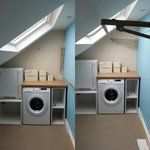 Attic laundry from RJV Designs